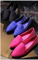 2013 spring new arrival fashion vintage star fashion metal rivet flat heel single shoes women's casual shoes,free shipping