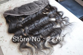 "Virgin Brazilian Lace Frontal Closure 13x4"" Bleached Knots Virgin Frontal Piece 10-20""Body Wave Full Lace Frontal Brazilian Wavy"