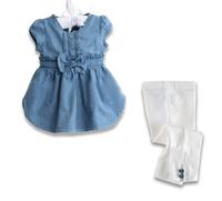 New hot brand Girls Summer  demin shirt + white shorts 2 pcs suit baby wear  wholesale free shipping