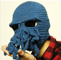 HOT wholesale  2013 Fashion novelty handmade knitting wool octopus unisex hat