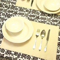 Solid color placemat table cloth modern orange cup table mat fashion table napkin home fabric  32*45cm