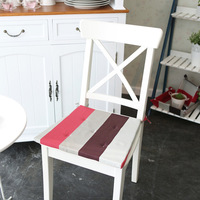 Stripe cushion dining chair mat home fabric lacing spring and autumn cushion fresh new arrival brief  42*35*40*2.5cm