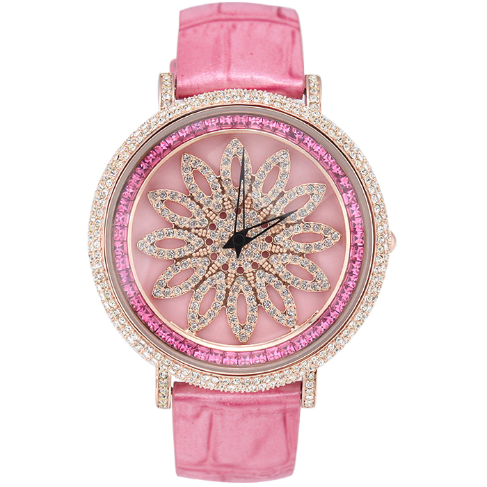 Watch flower wheel fashion round table lucky punner women's table watch rhinestone table fashion table(China (Mainland))