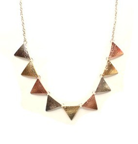 Free shipping Whale Tail Exquisite European style topshop color gold jewelry metal triangle brand female necklace N283(China (Mainland))