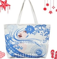 HOT SELL 2013,Fashion  Environmental Protection Bags Women Totes With Canvas,1 Piece Free Shipping,Support Wholesale,LYA123