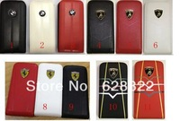 Unique design  car logo   Style Mobile Phone Leather with Holder Case for  iphone 5