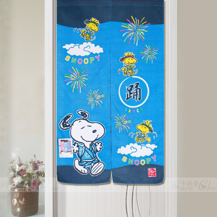 Rod endulge SNOOPY 150 blue DORAEMON cartoon japanese style curtain fabric(China (Mainland))