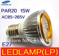 Dimmable or no-dimmable LED Light PAR 20 15W 5X3W Spotlight E27,1pcs/lot sliver 110V 220V Cool White Warm White PAR20 Low price