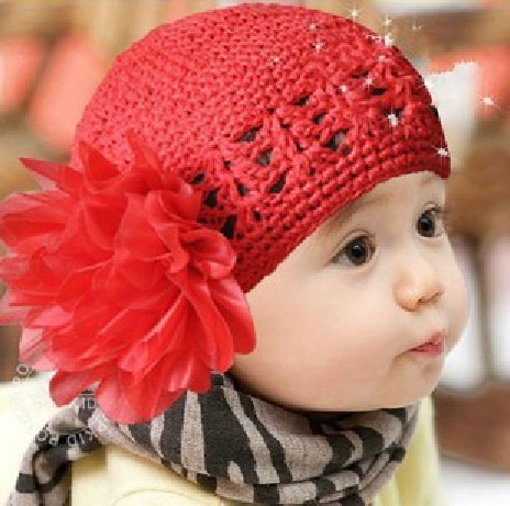 On Sale! 2013 New Baby Autumn & Winter Hat Kids Knitted Ear Muff Cap Baby Crochet Ear Hat Cute Flower(5pcs/lot)Free Shipping(China (Mainland))
