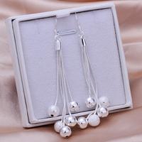 Earrings -TTSE277-high quality,Free shipping,wholesale 925 silver beads earrings for women,925 Sterling silver fashion jewelry