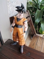 Paper Model New Dragon Ball Z Goku Hight 30CM  anime cartoon dolls Waterproof  free shipping