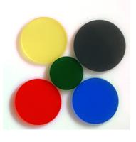 Colored glass blue filter belt filter qb5 , filter diameter 12mm