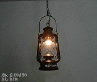 Outdoor nostalgic vintage bronze kerosene lamp old windproof lantern camp light tent light mastlight