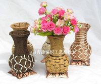 Free shipping High-quatity modern fashion flower pots planters basket rattan home decoration vase artificial flower