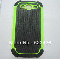 Hybrid Defender Rugged silicone + plastic Triple Layer Hard Case Cover Shell for SAMSUNG Galaxy s3 i9300 10pcs