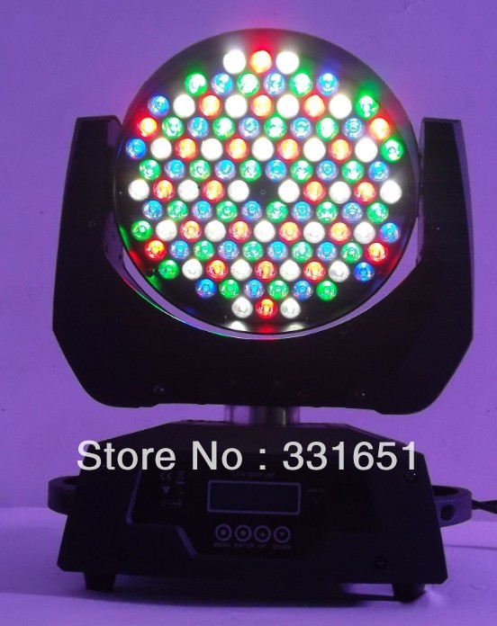 4 pieces/lot free shipping By DHL to Croatia DJ Equipment Powerful Pro 108x3W RGBW Moving Head Lights China(China (Mainland))