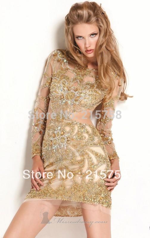 Gold Sequin Cocktail Dress Gold Cocktail Dress
