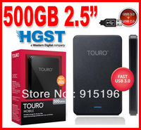 "500GB HTOLMX3CA10001ABB USB3.0 HGST Touro Mobile 2.5"" Portable Hard Disk Drive HDD with 3 Year Warranty  Free Shipping"