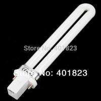 FreeShipping 9W Gel Curing Nail Art electronic  UV Lamp UV nail light Bulb  nail dryer tube wholesale 12pcs/lot