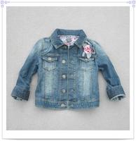 free shipping OW3024  Girls denim sequin foil coat ,top 5pcs/lot