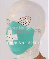 White nurse latex unisex hood for people