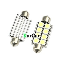 2PCS/Lot 41mm 5050 SMD 8 LED Canbus No Error LED Car Dome Lights, C10W Readking Light Bulbs Cold White Free Shipping