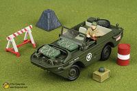 free shipping ! FOV 1:32 WWII U.S. Amphibian type amphibious amphibious jeep 82010   Alloy Military Model