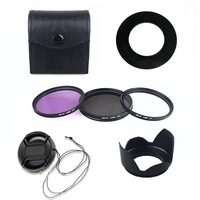 67mm UV CPL FLD Filter Set Accessory Lens Hood for Canon