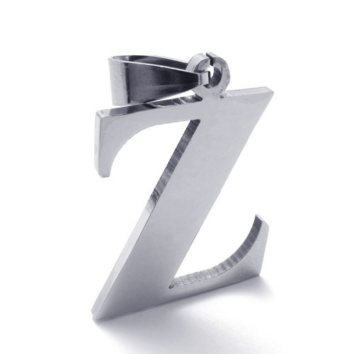 Accessories stainless steel letter z pendant 10021128 male titanium steel pendant(China (Mainland))