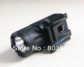 Hunting Cree Led Flashlight Torch Waterproof & Shock Resistant for pistol/gun QD Weaver/Picatinny mount rail free shipping