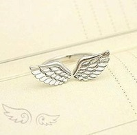 wholesale connubial wings Ring Gold Silver chinese Jewelry gift women girls Finger Accessories JZ-023