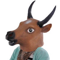 Halloween Creepy Cow/Tau Head Latex Mask Party Animal Bull Toy Prop