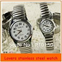 Fashion Ultra Thin Stainless steel Belt Quartz Wrist watches for lovers men women Couple