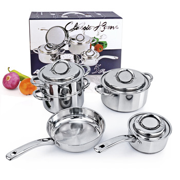 Stainless steel cooking cookware cookware set / kitchen combination Cookware Set pan Group