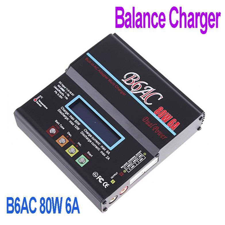 Battery Charger,B6AC 80W 6A NiCd/MH/LiLo/LiFe/Pb RC Battery Balance Charger Lithium Battery Charger,Freeshipping Wholesale(China (Mainland))