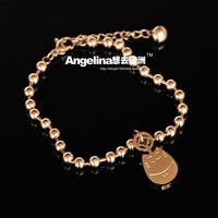 Bracelets For Women Pulseira Free Shipping Totoro Bracelet 18k Rose Color Female Fashion Titanium Accessories Gift New Retro