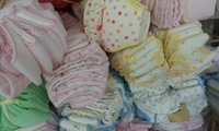 New design 6layers waterproof napper diaper  baby panties   3sizes   15pcs/lot  mixed color sending 100%cotton