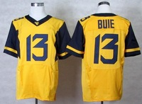Free shipping West Virginia Mountaineers #13 Andrew Buie 13 College Football Elite Jerseys jersey gold yellow  color