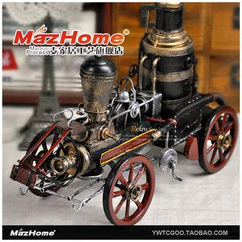 Vintage train model steam locomotive metal model train toy
