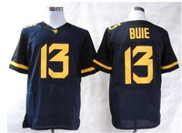 Free shipping West Virginia Mountaineers #13 Andrew Buie 13 College Football Elite Jerseys jersey  navy blue color