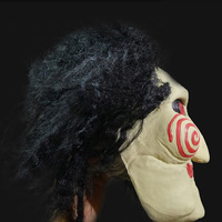 New Jigsaw Saw Puppet Mask Scary Masks Perfect for Halloween props costume ball