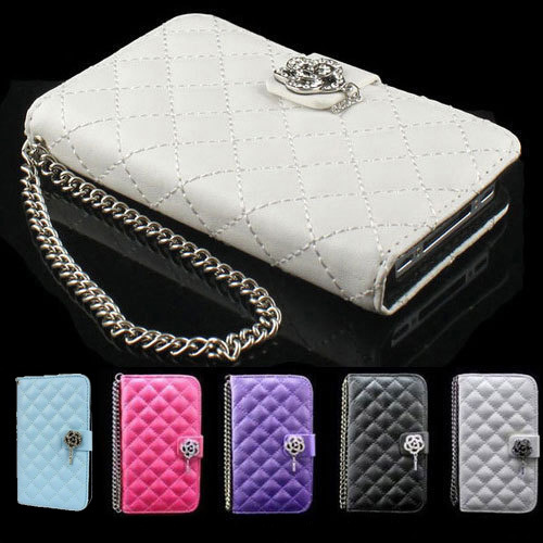 Samsung wallet phone case for samsung galaxy s3 : Wallet Crystal cute Diamond Leather Case Cover for samsung galaxy S3 ...