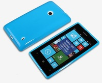 Christmas Gifts New Arrival Protective Soft TPU Back Case For Nokia lumia 520 6 Colors Free Shipping