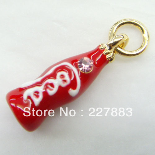 free shipping 8051 coco bottle drink bag necklace earrings phone charm(China (Mainland))