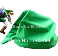 Legend of Zelda Link Cosplay Green Hat zelda hat 60CM Length 50psc/lot Hot selling