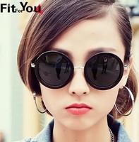 New nonmainstream retro prince sunglasses big round  mirror  frame sunglasses(3color mix)