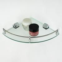 Bathroom glass shelf single tier corner bracket cosmetic rack storage rack basin corner shelf home appliance