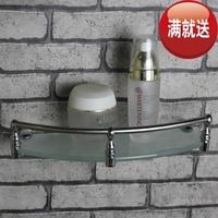 Stainless steel glass shelf bathroom shelf storage rack bathroom hardware home appliance