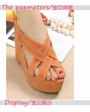 Free shipping new arrival Tianyi ! beautiful legs cross platform wedges sandals high heels sandals x1010(China (Mainland))