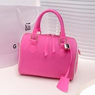 332013 candy color transparent plastic handbag cross-body handbag rubber bucket bag lockable women's handbag bag(China (Mainland))